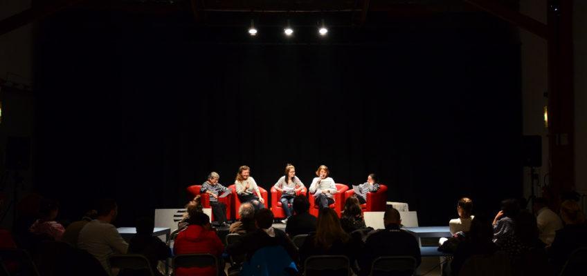 De gauche à droite Marie, Corinne , Océane, Claude, Solange